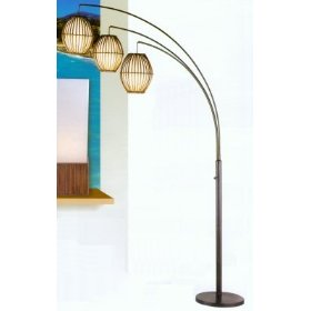 Maui Arc Lamp In Antique Bronze